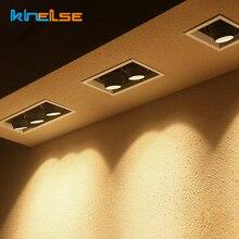 5 Вт 10 Вт 15 Вт Светодиодный светильник для кухни GU10, встроенный квадратный потолочный светильник с двойной головкой, точечный светильник с регулируемым углом наклона, потолочный светильник