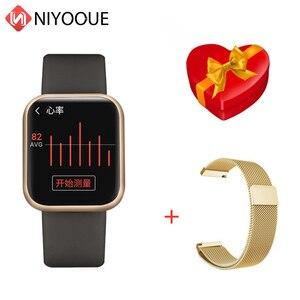 Image 1 - P80 Смарт часы Полный сенсорный экран Ip68 водонепроницаемый смарт часы для Iphone Xiaomi телефон мониторинг сердечного ритма для мужчин и женщин; Модные