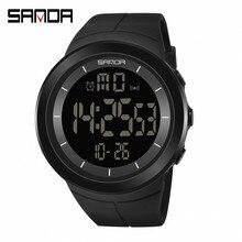 SANDA Brand Luminous Digital Watches Men Army Military Sport