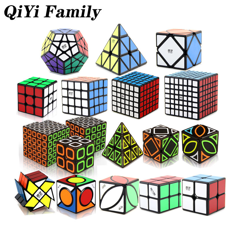 QiYi Family 3x3x3 4x4x4 Pyraminxeds Megaminxeds FangYuan Dimension Ivy Magic Cube MoFangGe Speed Twisty Puzzle Educational Toys