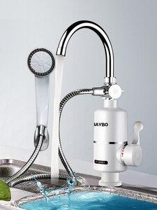 Image 1 - 3000W anında su ısıtıcı vinç sıcaklık ölçer su ısıtıcı elektrikli sıcak su Tankless isıtma banyo mutfak musluk