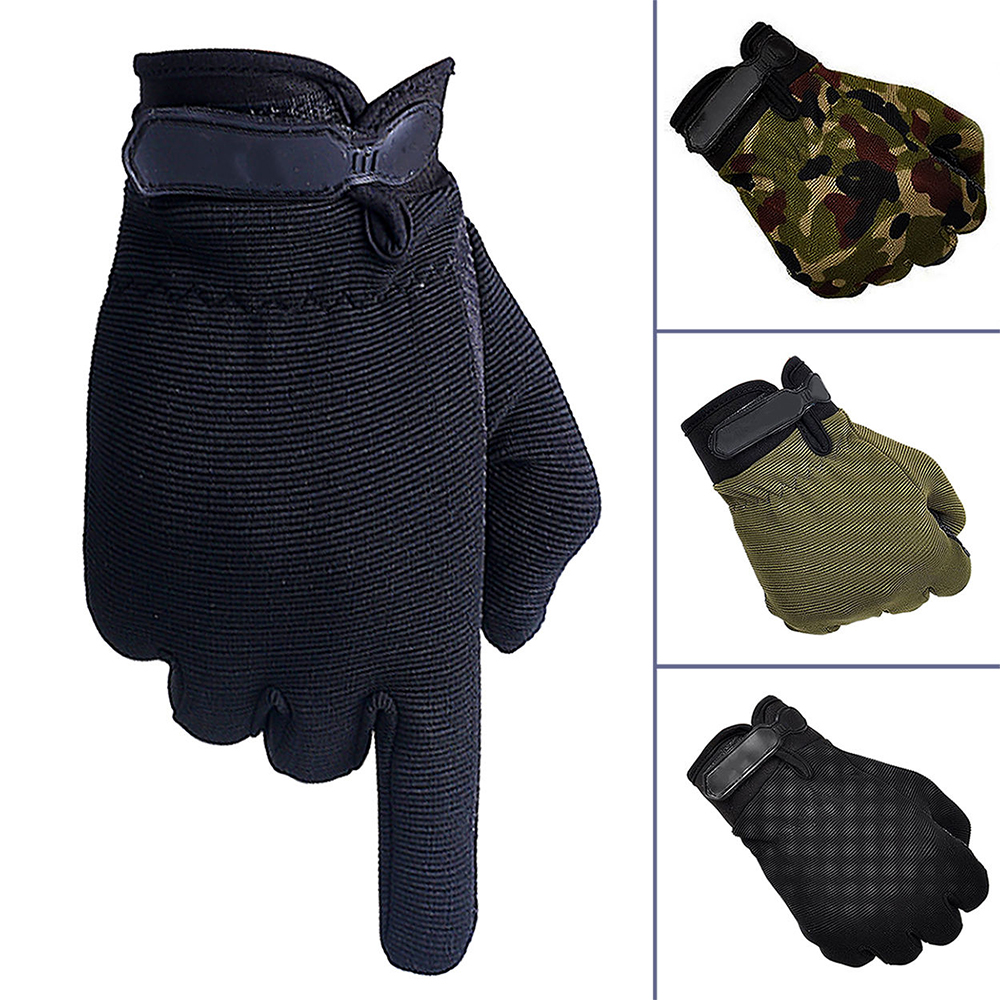 VIM Outdoor Anti-Slip Silicon Gloves Outdoor Sports Badminton Fitness Mountaineering Bike Bicycle Riding Military Gloves