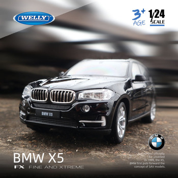 цена на Welly 1:24 BMW X5 SUV off-road vehicle simulation alloy car model Collect gifts toy
