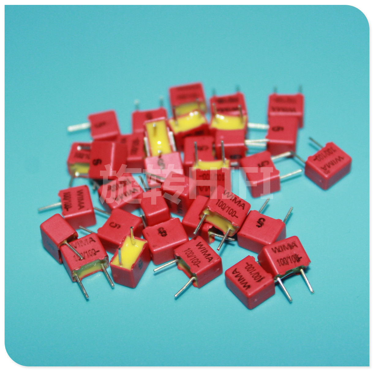 50PCS NEW RED WIMA FKP2 100PF 100V 100v100pf 5% 101 0.1NF PCM5mm Audio Hot Sale 101/100V