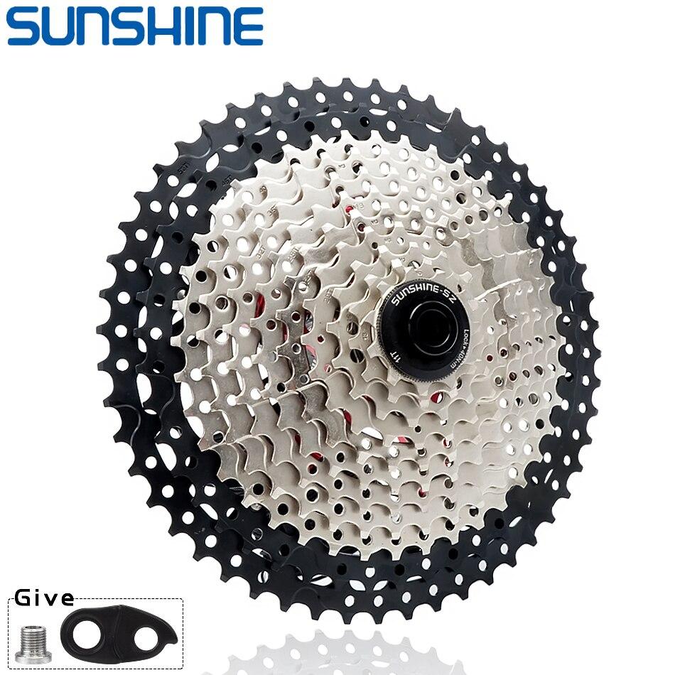 SUNSHINE MTB кассеты 8/9/10/11/12 скорость 32/36/40/42/46/50/52T горный велосипед самокат для Shimano/SRAM