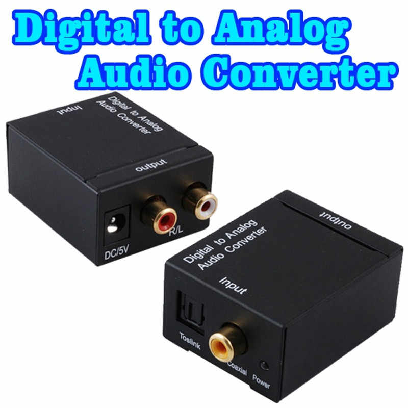 Convertitore Audio da digitale ad analogico jack da 3.5MM 2 * Decoder amplificatore RCA fibra ottica segnale coassiale a DAC analogico Spdif Stereo