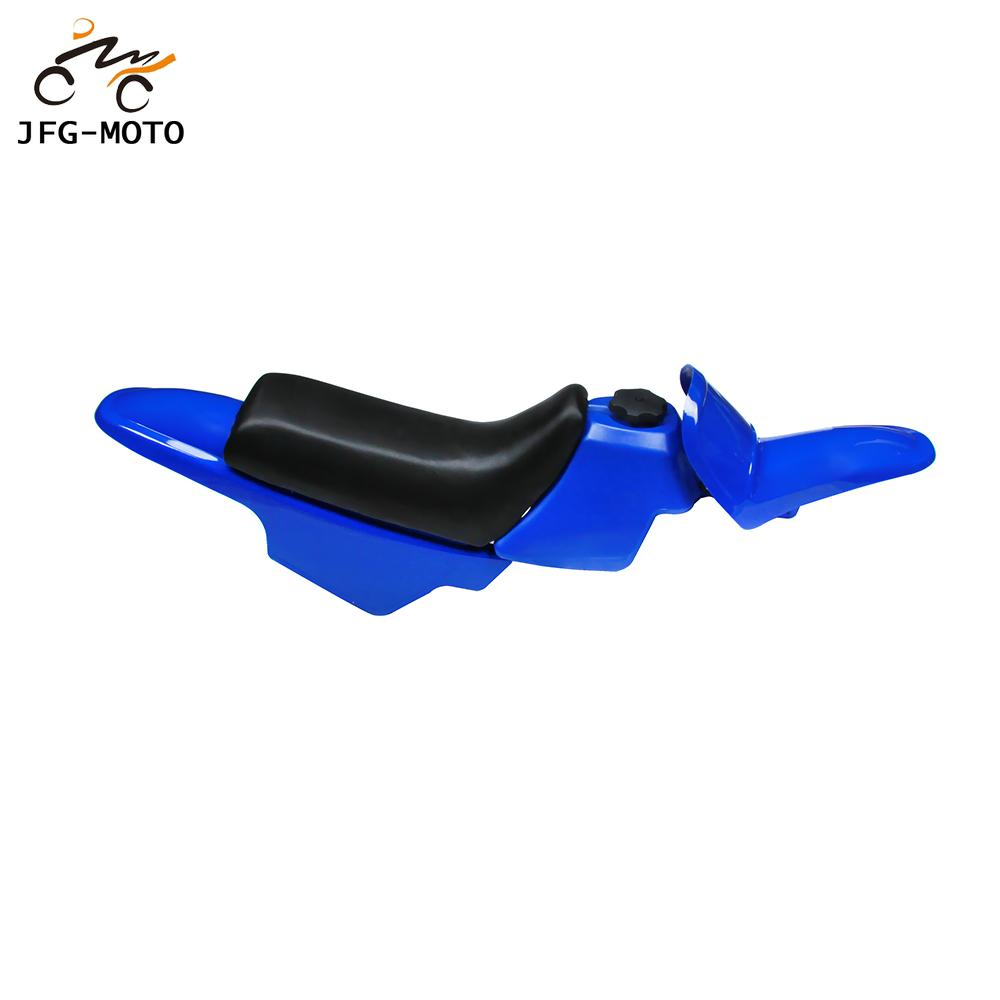 Motorcycle Plastics Kit Seat Body Fender Gas Tank Cap Cover Kit For YAMAHA PW50 PY50 PW 50 PEE WEE