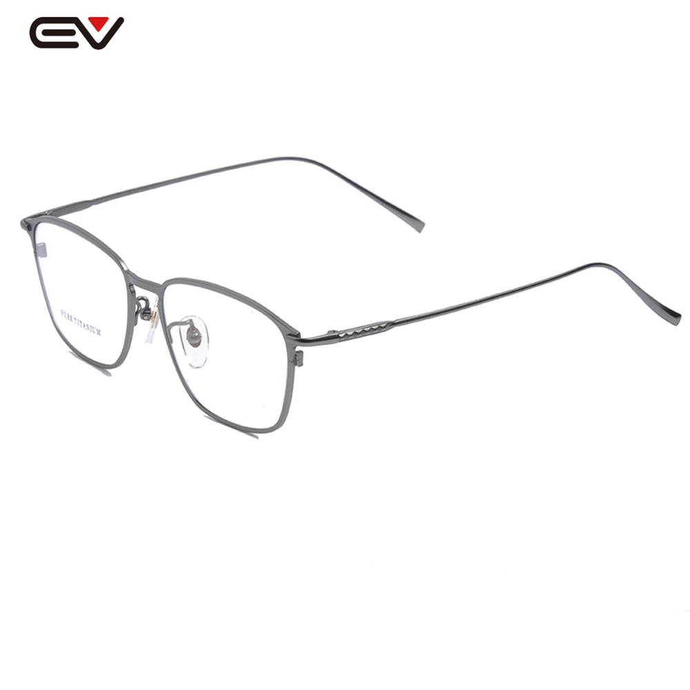 Mens Titanium Rectangle Eyewear Prescription Clear Lens Optical Eyeglasses Light Weight 12G Frame W/case 52mm-16mm-143mm