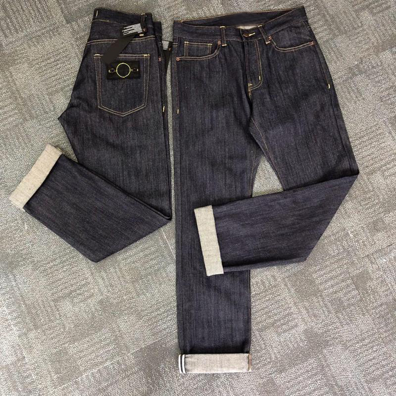 2019ss Compass Stitching Men Straight Logo Patched Men Jeans Hiphop Streetwear Men Pants Trousers Denim Jeans