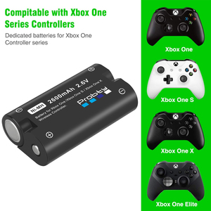 Image 5 - 2 x2600mAh Battery for Xbox One / Xbox One S/Xbox One X/Xbox Series X/S Elite Wireless Controller Gamepads + LCD USB Charger