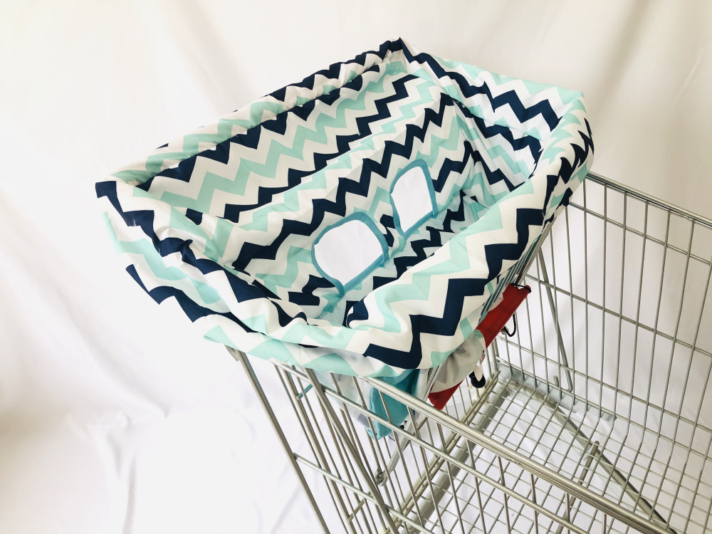 Portable Shopping Cart Cover | High Chair And Grocery Cart Covers For Babies, Kids, Infants & Toddlers ✮ Includes Free Carry Bag
