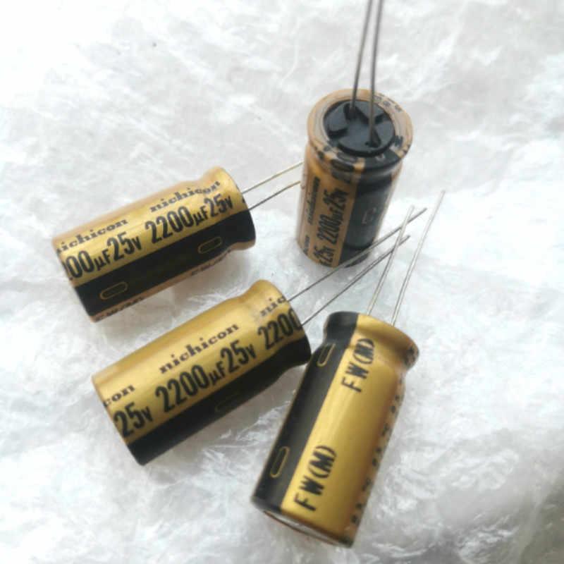 10pcs Nichicon FW 2200uf 50v Radial Electrolytic Capacitor for Audio NEW