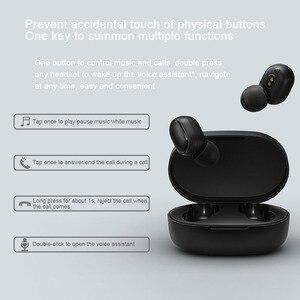 Image 5 - Xiaomi Redmi Airdots 2 Wireless Bluetooth 5.0 auricolare Stereo TWS con microfono vivavoce AI Control cuffie riduzione del rumore dei bassi