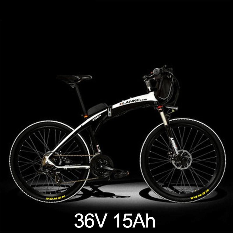 Lankeleisi 189,47 электрический велосипед, складной велосипед, 26 дюймов, 36/48 в, 240 Вт, дисковый тормоз, быстрый складной, горный - Цвет: 15a Black White