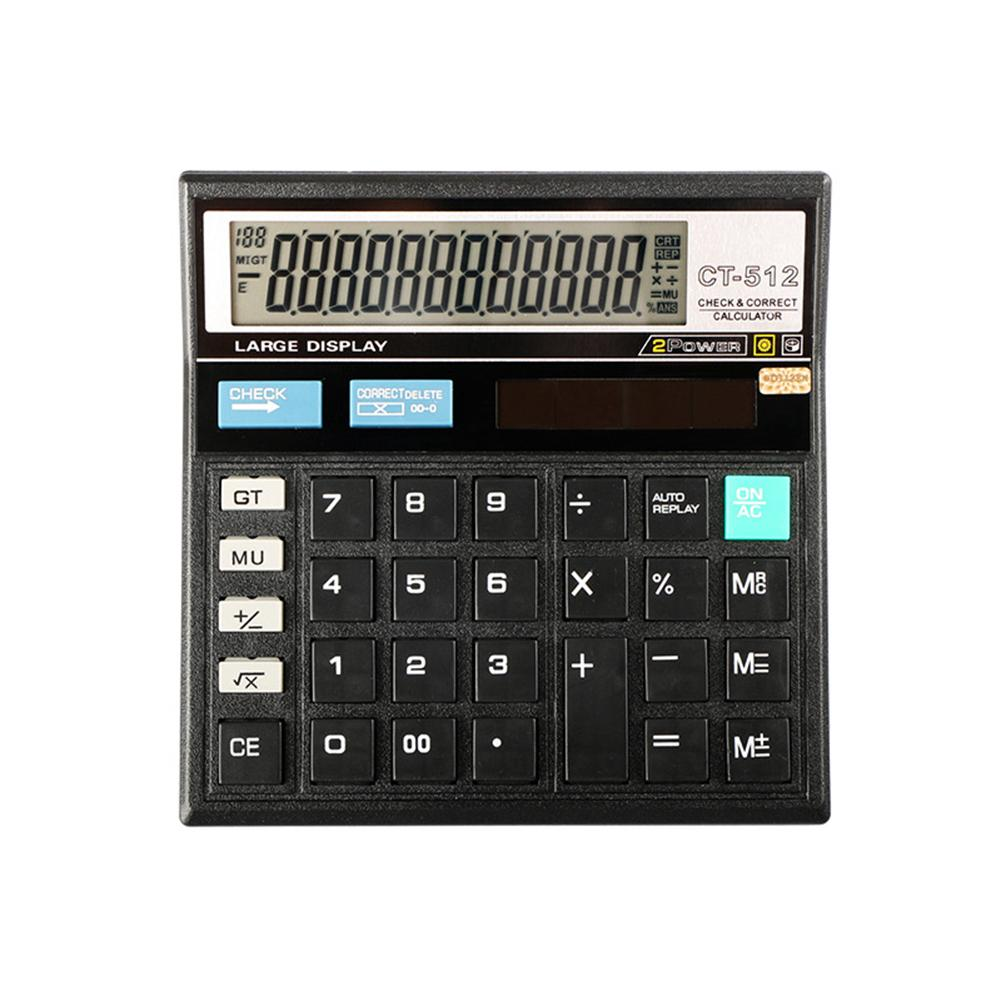 Large Screen Desktop 12 Digit Electronic Calculator Financial Accounting Tool image