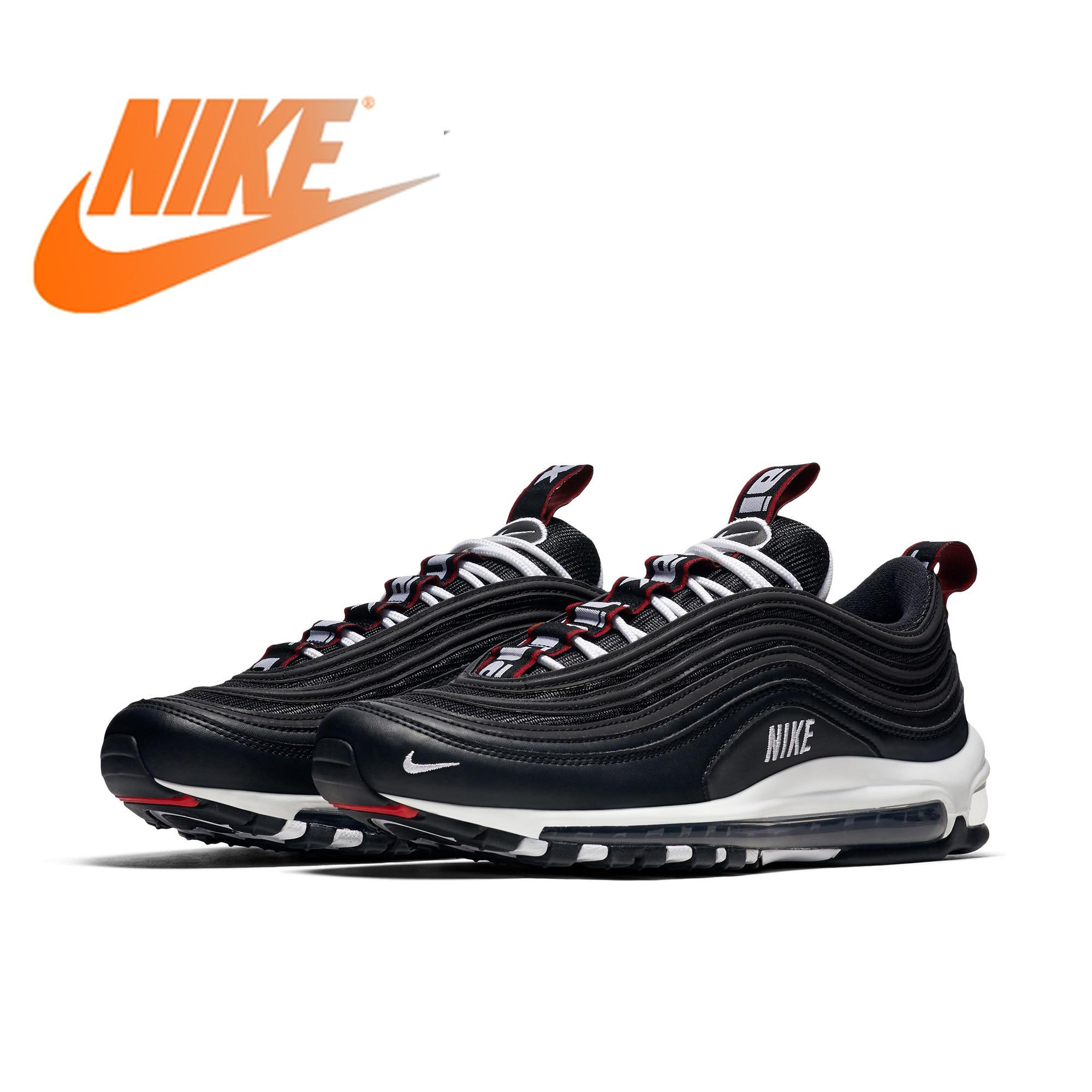 Original autêntico nike air max 97 sapatos de corrida masculinos premium tendência esportes ao ar livre sapatos confortáveis e duráveis 312834