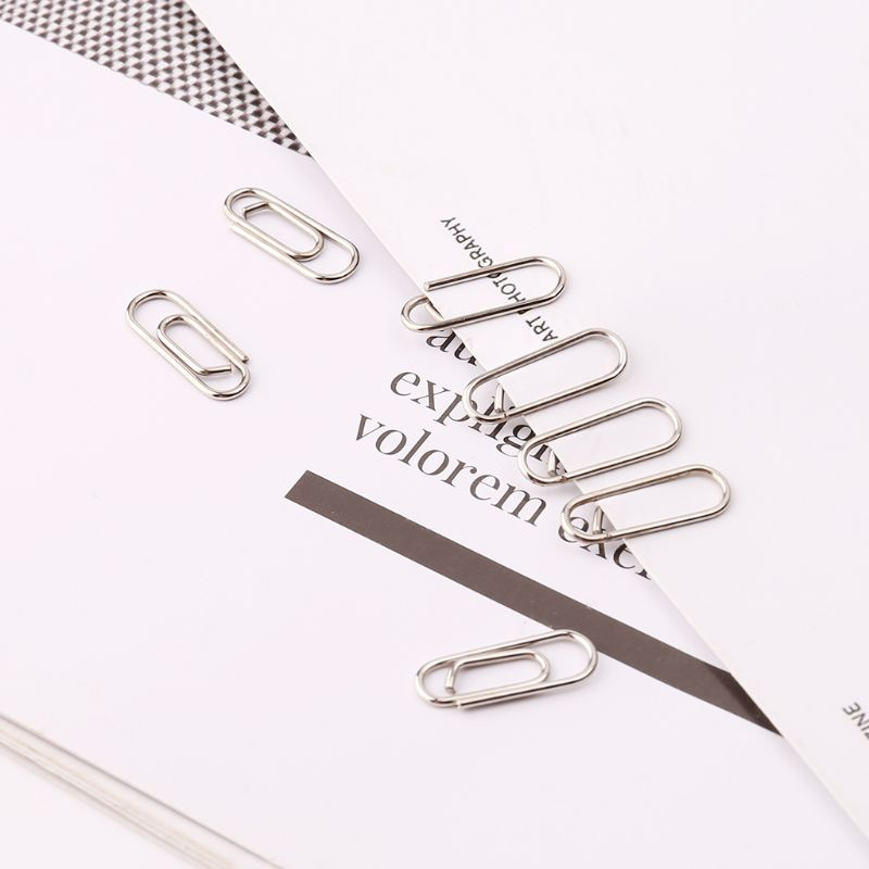 Small Mini Metal Paper Clips Bookmarks Photos Letter Binder Clip School Supplies Stationery Office Accessories 50Pcs