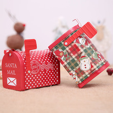 Christmas items DIY decorations Xmas New year Tinplate mailbox box Iron cans Childrens gift cartoon candy