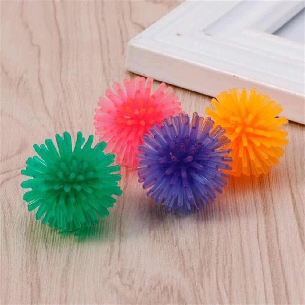 1/5 sztuk kot domowy interaktywna zabawka Mini TPR piłka miękkie trwałe zabawki do ćwiczeń Floatable jeż piłka piłka zabawka dla zwierząt