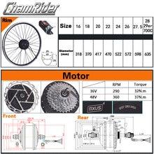 250W 350W 36V 48V ebike kit Electric bike conversion kit XF07 XF08 MXUS Motor without battery LED LCD display optional freehub