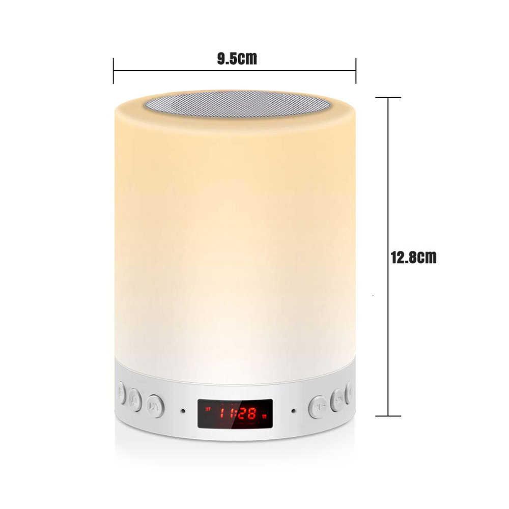 スマート bluetooth スピーカー led ナイトライトタッチ制御 usb 充電ポータブル子の寝室の rgb 調光可能なベッドサイドのランプ