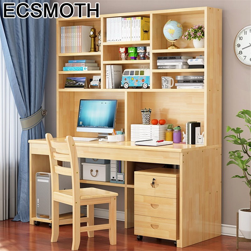 Portable Small Dobravel Mesa Para Notebook Bed Office Furniture Tablo Laptop Computer Desk Bedside Table With Bookcase