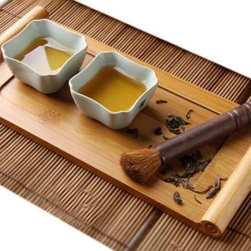 Bamboo Tea Trays Kung Fu Tea Accessories Tea Tray Table With Drain Rack Home Saucer Tool