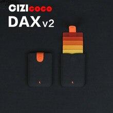 Nova Chegada DAX V2 Mini Magro Cartão Portátil Titulares Puxado 5 Cartões de Dinheiro Mulheres Curtas Design Homens Carteira Cor Gradiente bolsa