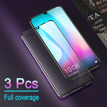 3Pcs 9H Full Cover Protective Glass For Honor 10 lite Screen Protector Glass for huawei honor 10 lite honor 10i Tempered Glass