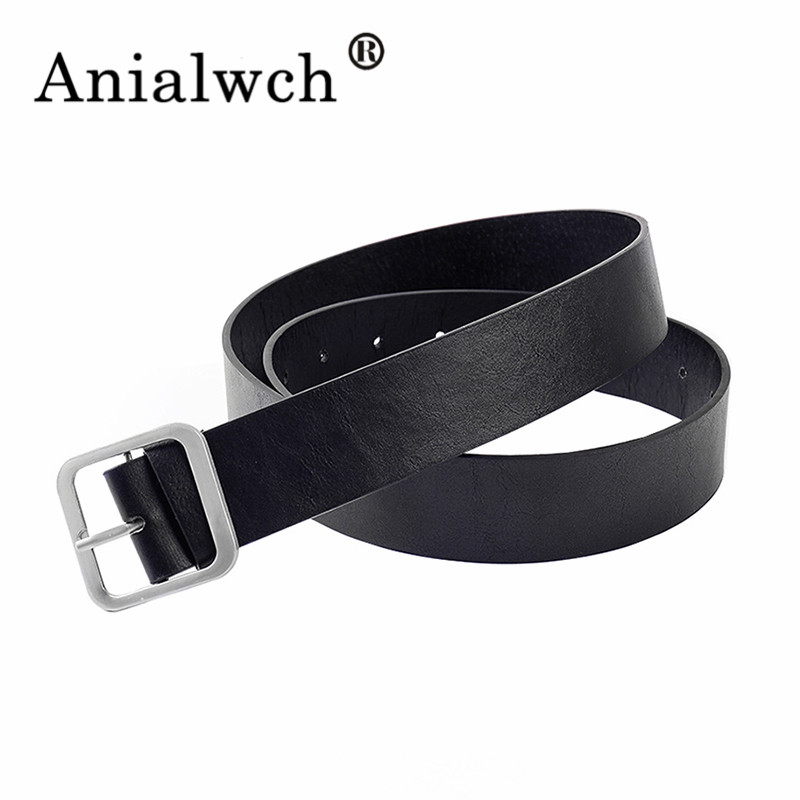 105*3.5cm Square Buckle Leather Belt Women Belts For Women Dress Waistband Fashion 2020 New Woman's Accesories Girdle Black G003