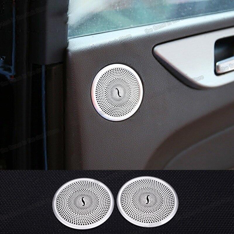 Lsrtw2017 paslanmaz çelik araba iç kapı ses hoparlörü paneli Trim için Mercedes Benz Ml Gl Gle Gls ML350 320 GL450 W166 x166