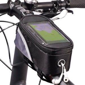Полиуретановая Водонепроницаемая велосипедная сумка, велосипедная Рама, передняя Верхняя трубка, Сумка с сенсорным экраном для мобильного...