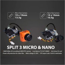 RunCam Split 3 Nano/Micro 1080P 60fps HD Recording WDR Low Latency 16:9/4:3 NTSC/PAL Switchable FPV Camera For RC Drone runcam split 3 nano micro 1080p 60fps hd recording wdr low latency 16 9 4 3 ntsc pal switchable fpv camera for rc drone