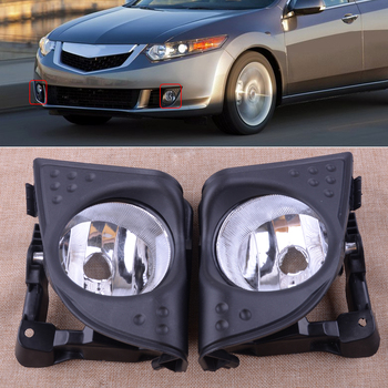 New 1Pair 33900TL0A01 33950TL0A01 Black Car Left Right Front Fog Driving Light Lamp Cover Trim Frame Fit for Acura TSX 2009 2010