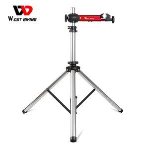 Image 1 - WEST BIKING профессиональная подставка для ремонта велосипеда MTB дорожный велосипед ремонтные инструменты Регулируемая Складная Подставка для хранения