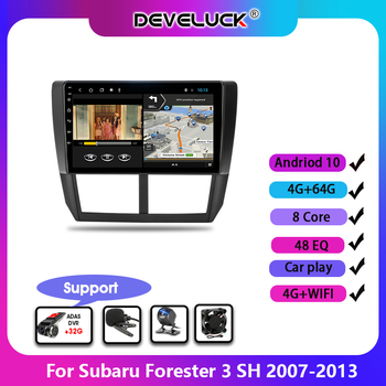Android 9.0 2 Din Car Radio For Subaru Forester 3 SH 2007-2013 2G+WIFI Multimedia Player GPS Navigation DSP RDS Mirror Link image