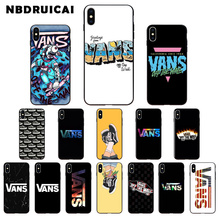 NBDRUICAI vans off DIY Printing Drawing High Quality Silicone Phone Case for iPhone 11pro XS MAX 8 7 6 6S Plus X 5 5S SE XR case