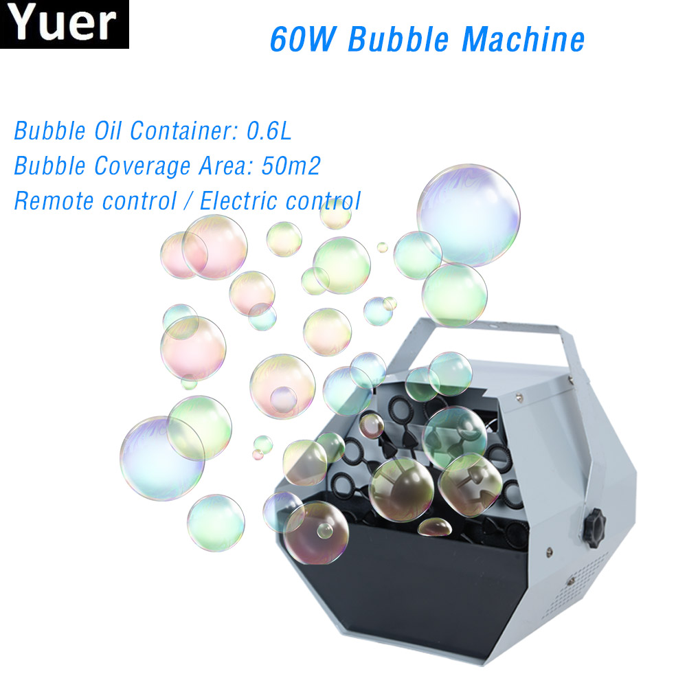 2020 New 60W Remote Control Bubble Machine Wedding Party Birthday DJ Disco Equipment Stage Effects Bubble Machines Kids Outdoor
