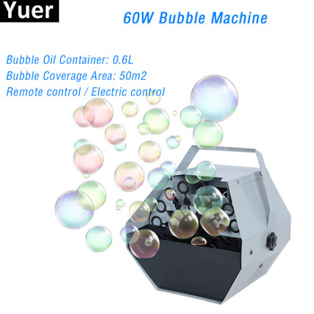 цена на 2020 New 60W Remote Control Bubble Machine Wedding Party Birthday DJ Disco Equipment Stage Effects Bubble Machines Kids Outdoor