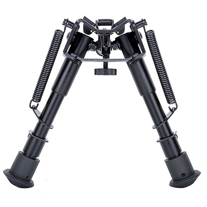 Spor ve Eğlence'ten Dürbün Tertibat ve Aksesuarları'de 6 Inch Bipod Folding For Various Caliber Hunting Sniper AR Rifle .223 556 308 Rail Mount Sports Shooting Accessories