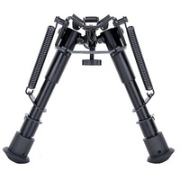 6 Inch Bipod Folding For Various Caliber Hunting Sniper AR Rifle .223 556 308 Rail Mount Sports Shooting Accessories-in Bereik montuur & Accessoires van sport & Entertainment op