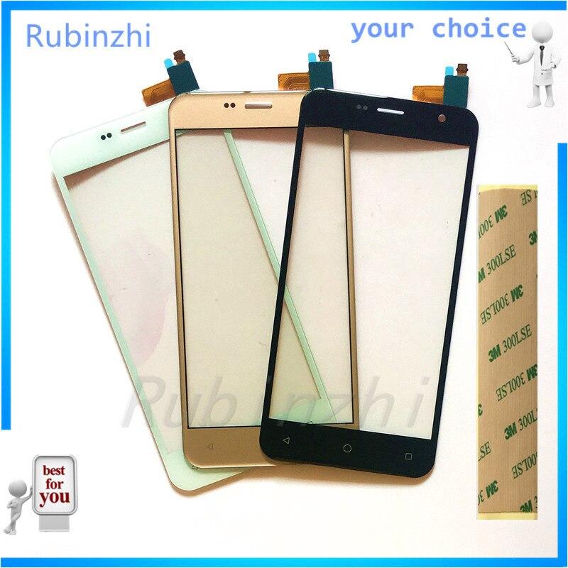 RUBINZHI Phone Touch Screen Digitizer For Prestigio Muze B3 PSP3512DUO PSP3512 DUO Touchscreen Front Glass Sensor Panel +tape