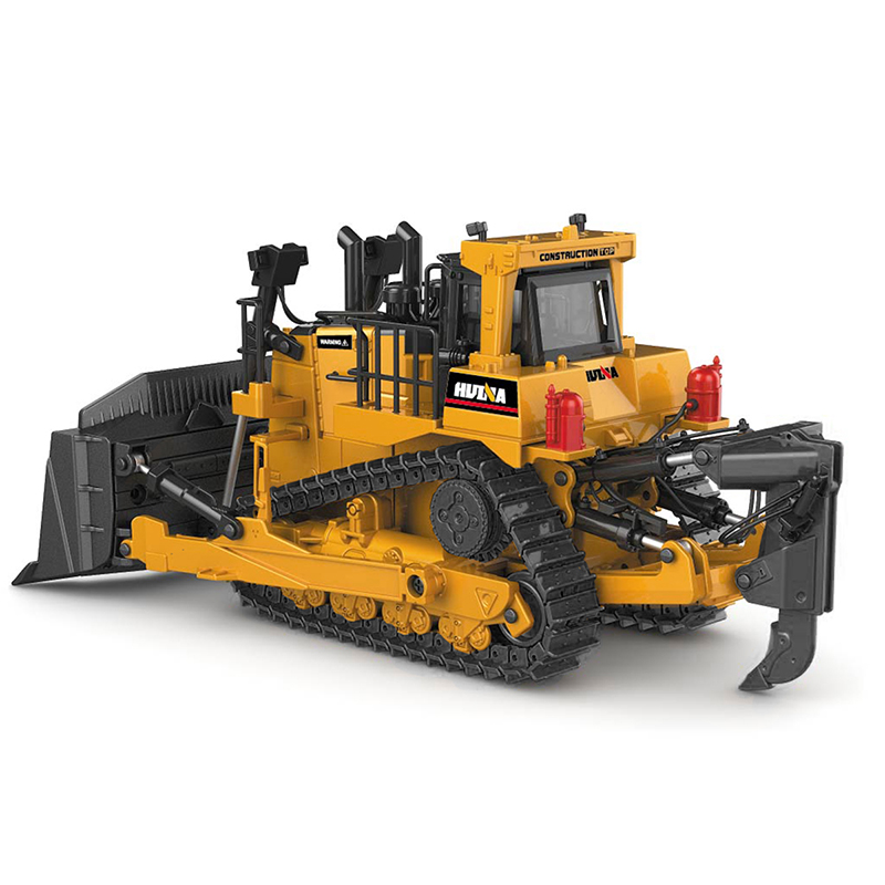 Crawler Bulldozer Model Alloy Diecast 1:50 Tracked Engineering Track Car High Simulation Collection Metal Toys For Boys Kids image