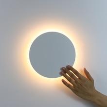 Diodo emissor de luz da parede com interruptor toque quarto lâmpada de parede cabeceira interior da escada iluminação luminária ferro e materiais acrílicos 11 w
