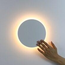 LED קיר אור עם מגע מתג חדר שינה ליד מיטת מנורת קיר מקורה מדרגות תאורת מנורת מתקן ברזל ואקריליק חומרים 11W