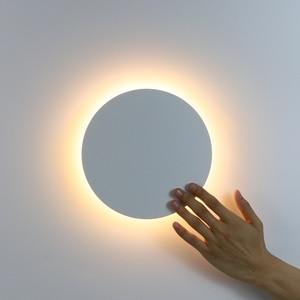 Image 1 - Led Wandlamp Met Touch Schakelaar Slaapkamer Bed Wandlamp Indoor Trap Verlichting Lamp Armatuur Ijzer En Acryl Materialen 11W
