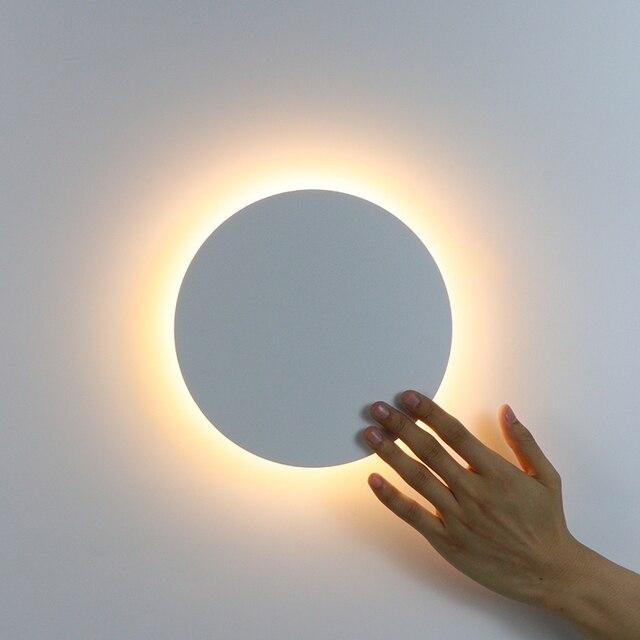 Led Wandlamp Met Touch Schakelaar Slaapkamer Bed Wandlamp Indoor Trap Verlichting Lamp Armatuur Ijzer En Acryl Materialen 11W
