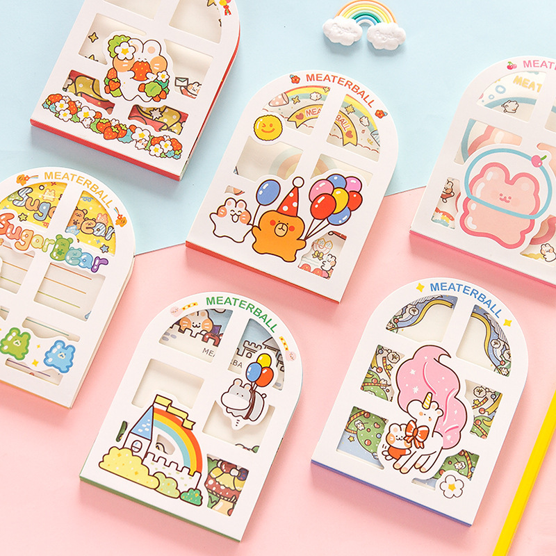 Mohamm 50 Pcs/lot Cartoon Bear Birthday Notepad Memo Pad School Supplies Paper Stationary Office Accessories