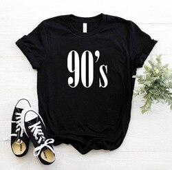 90's خطابات النساء T قميص القطن عارضة مضحك بلايز لل سيدة أعلى المحملة محب نعرفكم 6 ألوان هبوط السفينة CB -6