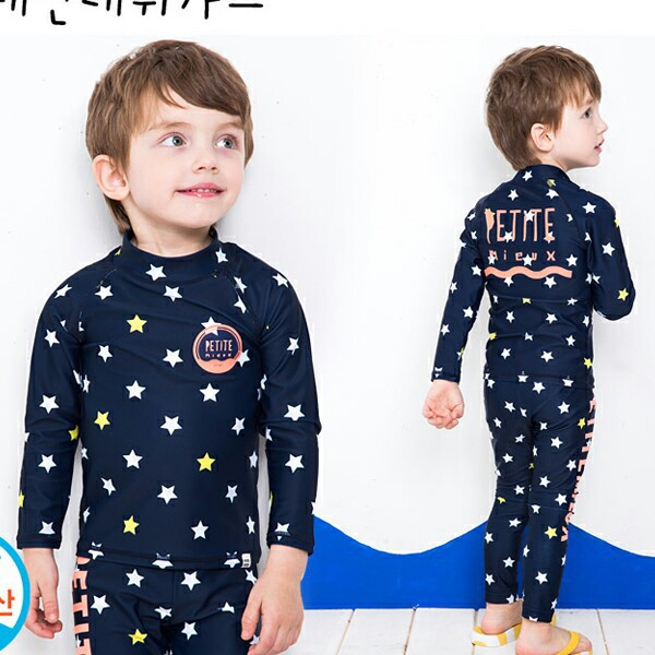 New Style Men And Women Big Boy Tops Bathing Suit Beach Hot Springs Quick-Dry Swimwear Long Sleeve Children Baby